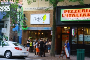 Groups gather along Elm Street and their favorite places to eat - - Crafted! The Art of the Taco.