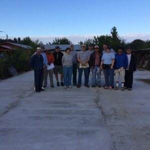 Construction Crew ready to work and begin framing the church.