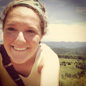 Amy in a hiking selfie...sooo Asheville!