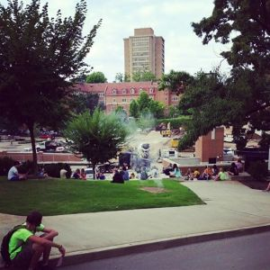 Students covering UT campus in prayer during their personal devotion times.