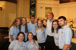 Closing concert photo with friends from all over N.C.