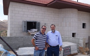 West Bank settlers Rabbi David Zlatin and son Josh