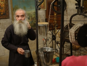 Greek Orthodox monk at Jacob's Well